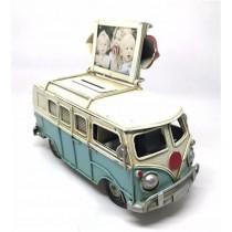 Nostaljik Metal Vosvos Minibüs Resim Çerçevesi ile Kumbara