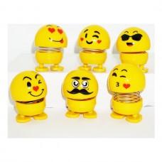 Zipzip Oynaya Kafalar Smile Emoji Oyuncak Masa Süsü 6 Adet Mory Concept