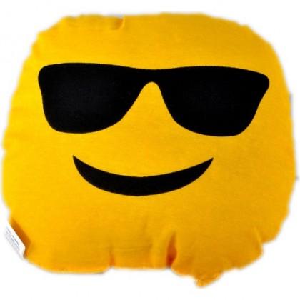 Gözlüklü Emoji Yastık