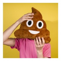 Gülen Poo Emoji Yastık