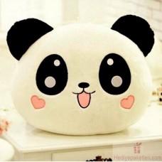 Vivyan Panda Yastık Kalp Yanaklı