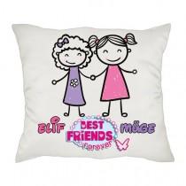 En İyi Arkadaşa Hediye İsimli Best Friend Arkadaşlık Yastığı
