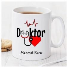 Doktorlar için kişiye özel  kupa bardak