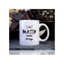 Kişiye Özel Matematik Öğretmeni Kupa Bardak