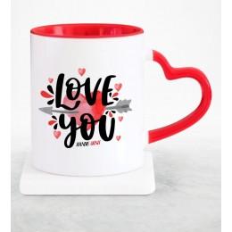 İsme Özel Aşkım Kırmızı Kupa Bardak