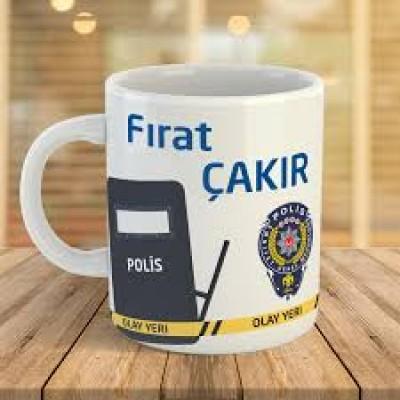 Polis Tasarımlı Kupa Bardak