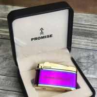 Metal Çakmak Pembe Gold Promise Markalı