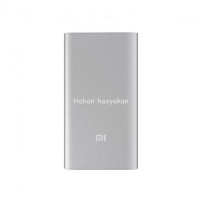 Xiaomi 10000 mAh (Versiyon 3) Taşınabilir Şarj Cihazı Gümüş (İnce ve Hafif Kasa) Kişiye özel