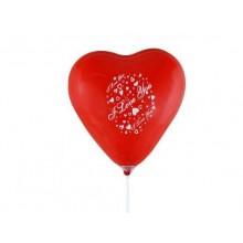 Seni Seviyorum Yazılı Kalp Balonları 50 Adet
