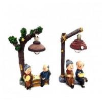 Yaşlı Nine Dede Biblosu Dekoratif Lamba