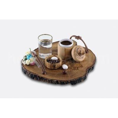 Zeytin Ağacı Kahve Sunum Takımı